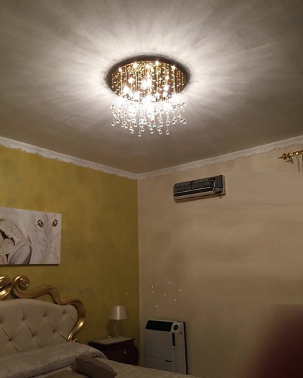 Picture of IDEAL LUX MOONLIGHT CEILING LAMP CRYSTAL SPHERE PL12 GOLD