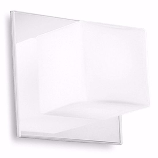 Picture of LINEA LIGHT CUBIC WALL LAMP WHITE GLASS CUBE
