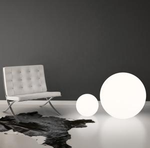 Picture of LINEA LIGHT OH! FLOOR FLOOR LAMP SPHERE WHITE Ø28CM