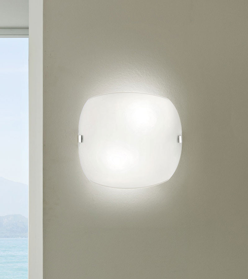 Picture of LINEA LIGHT LINER WHITE GLASS WALL LAMP 31X27CM