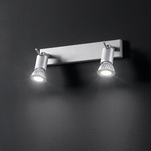 Picture of LINEA LIGHT SPOTTY WALL LAMP 2SPOTLIGHTS GREY
