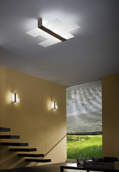 Picture of LINEA LIGHT TRIAD MODERN CEILING LAMP 35X22 WHITE