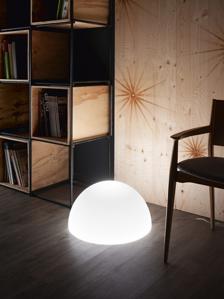 Picture of LINEA LIGHT OHPS! FLOOR LAMP HEMISPHERE WHITE Ø75