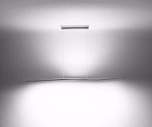 Picture of LINEA LIGHT MA&DE BRANCH POLISHED ALUMINIUM SUSPENSION LED BI-EMISSION
