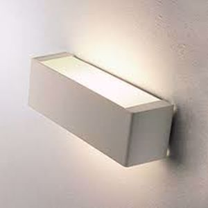 Picture of APPLIQUE RETTANGOLARE MODERNO 2700K 45CM BIANCO LAMPADA INCLUSA LINEA LIGHT BOX
