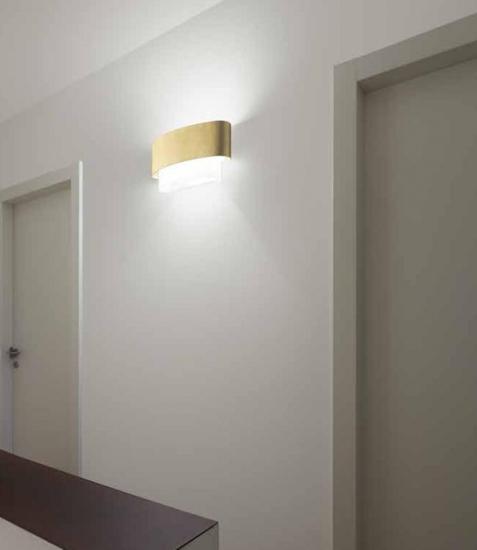 Picture of LINEA LIGHT MATRIOSKA WALL LAMP 60CM GOLD LEAF