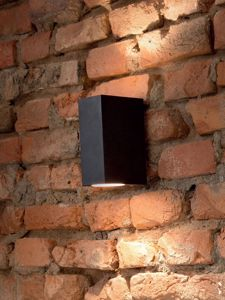 Picture of BLACK PARALLELEPIPED WALL LIGHT IP44 FOR OUTDOOR IDEAL LUX UP AP2