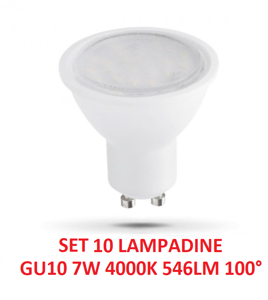 Picture of BOX SET OF 10 LED LIGHT BULBS GU10 7W 4000K GEA LUCE