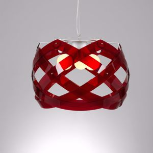 Picture of EMPORIUM PENDANT LAMP BIG 67CM 3 LIGHTS NUCLEA RED