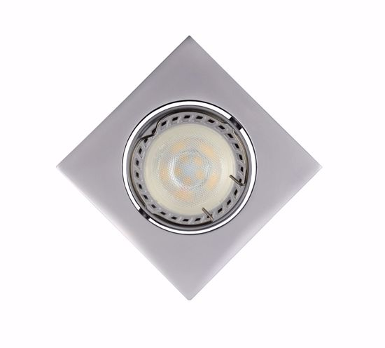 Picture of GREY RECESSED SPOTLIGHT FOR FALSE CEILING ADJUSTABLE SQUARED SHAPE AND MODERN DESIGN