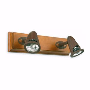 Picture of FARO STAR RUSTIC SPOTLIGHT 2 LIGHTS WOOD AND BROWN METAL