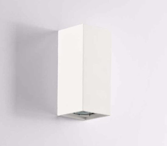 Picture of ISYLUCE WALL LIGHT WHITE PARALLELEPIPED SHAPE PAINTABLE GYPSUM  DOUBLE EMISSION