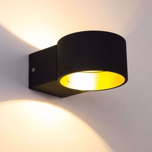 Picture of APPLIQUE LED 4.5W 3000K NERO ORO DESIGN PER INTERNI