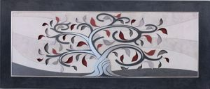 Picture of ARTITALIA TREE OF LIFE ARTWORK GREY DOVE AND SILVER LEAF