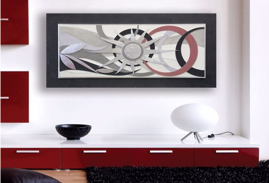 Picture of ARTITALIA ARTWORK SUN ANTHRACITE SILVER LEAF 120X60