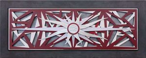 Picture of ARTITALIA ARTWORK WIND ROSE 155X65 RED