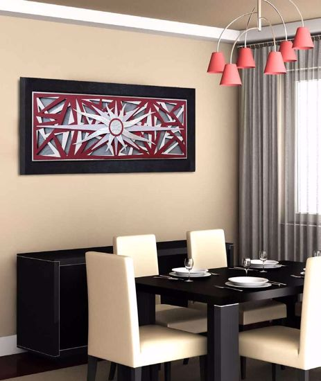 Picture of ARTITALIA ARTWORK WIND ROSE 155X65 RED