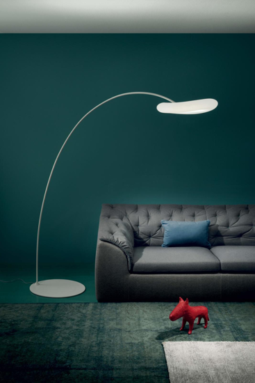 Picture of MA&DE MR. MAGOO ARCHED FLOOR LAMP LED LIGHT Ø52CM  WHITE POLYETHYLENE