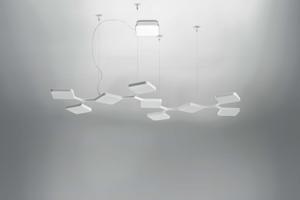 Picture of LAMPADARIO LED 91W BIANCO DESIGN MODERNO PER UFFICIO