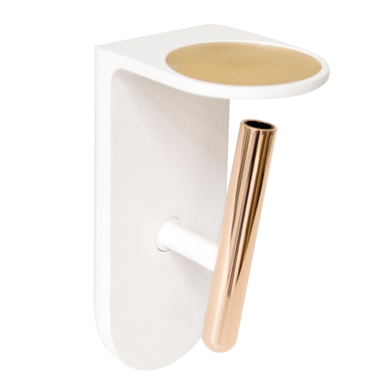 Picture of MODERN LED WALL LIGHT WHITE AND COPPER FINISHING 2NIGHTS