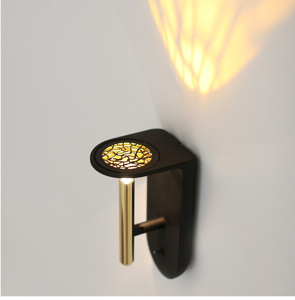Picture of LED WALL LIGHT MODERN DESIGN WITH ON/OFF SWITCH BLACK AND GOLD 2NIGHTS