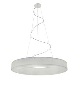 Picture of MA&DE SATURN P LED SUSPENSION LIGHT 98W Ø115CM ORIGINAL DESIGN WHITE POLYETHYLENE
