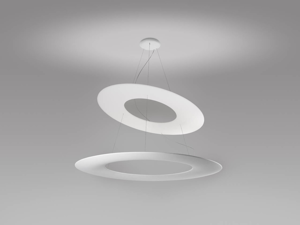 Picture of MA&DE KYKLOS MODERN SUSPENSION LED LIGHT DOUBLE RING Ø65CM 55W ORIGINAL WHITE DESIGN