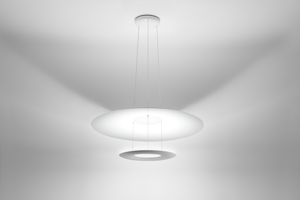 Picture of MA&DE MADAME BLANCHE LED SUSPENSION LIGHT 32W DOUBLE RING MODERN DESIGN