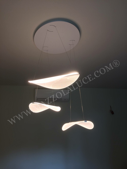 Picture of MA&DE DIPHY LED SUSPENSION LIGHT 44W ULTRAMODERN DESIGN CRYSTAL FLOWER