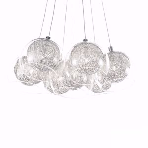 Picture of IDEAL LUX CIN CIN SUSPENSION SP7 TRANSPARENT GLASS SPHERES