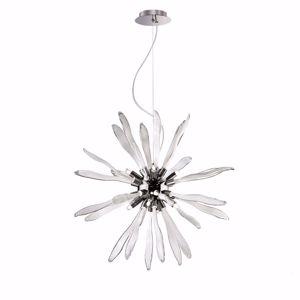 Picture of IDEAL LUX CORALLO SUSPENSION SP8 8 LIGHTS WHITE GLASS