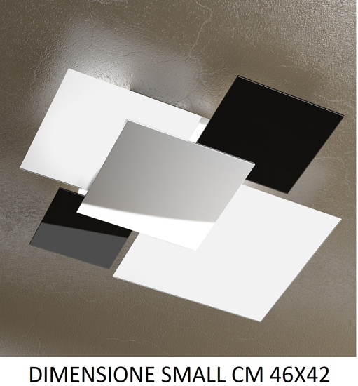 Picture of TOP LIGHT SHADOW CEILING LAMP 46CM WHITE AND BLACK