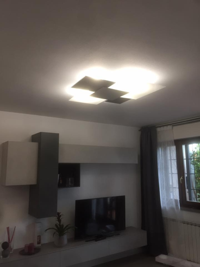 Picture of TOP LIGHT SHADOW CEILING LAMP 71CM WHITE AND BLACK