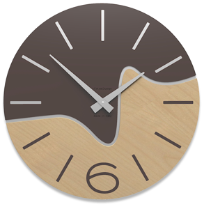 Picture of CALLEA DESIGN MODERN WALL CLOCK OLIVER CHOCOLATE