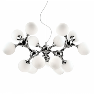 Picture of IDEAL LUX NODI SUSPENSION SP15 15 LIGHTS CHROME AND GLASS SPHERES