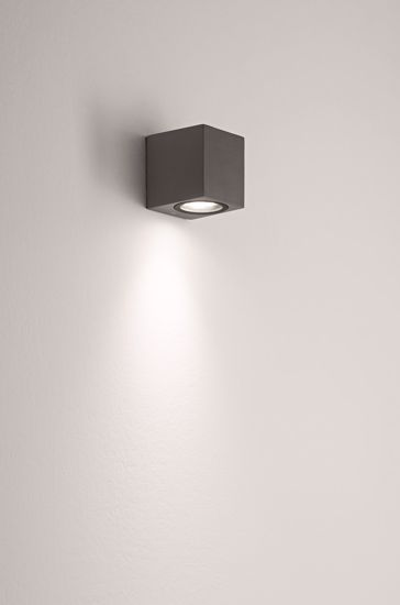 Picture of OUTDOOR CUBE WALL LIGHT ANTHRACITE ONE LIGHT GU10