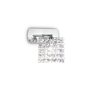 Picture of IDEAL LUX SPIRIT WALL LAMP WITH CRYSTALS AP1 1 LIGHT