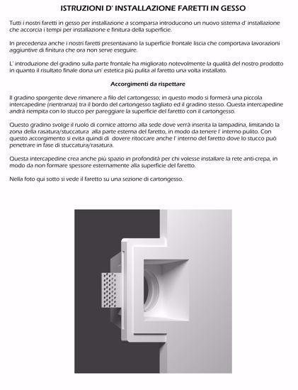 Picture of ISYLUCE ROUND RECESSED SPOTLIGHT IN GYPSUM