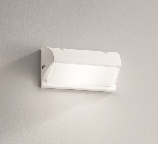 Picture of WHITE WALL LAMP FOR OUTDOOR IP54 MODERN DESIGN