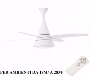 Picture of FARO WIND CEILING FAN WHITE WITH LIGHT