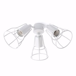 Picture of WHITE KIT OF LIGHT 3XE27 FOR CEILING FANS 33712