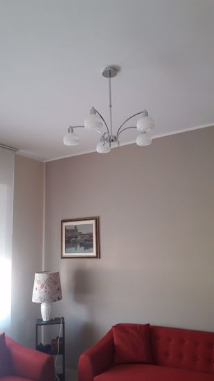 Picture of IDEAL LUX TOKYO SUSPENSION CHROME GLASS SP5 5 LIGHTS