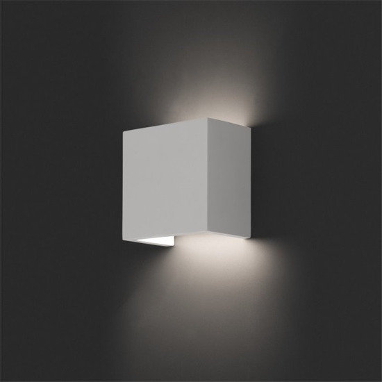 Picture of CUBE WALL LIGHT IN WHITE PLASTIC MODERN SQUARED SHAPE