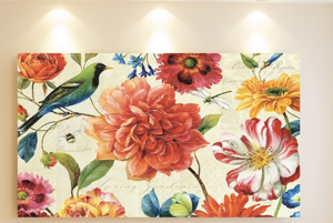 Picture of MANIE WALL ARTWORK FLORAL ON CANVAS 100X50