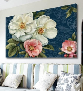 Picture of WALL ARTWORK FLOWERS PROVENCAL STYLE PRINT ON CANVAS 120X90