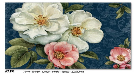 Picture of WALL ARTWORK FLOWERS PROVENCAL STYLE PRINT ON CANVAS 140X70