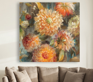 Picture of WALL ARTWORK FLORAL ON CANVAS 30X30