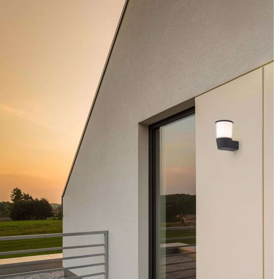 Picture of MODERN WALL LIGHT IP44 FOR OUTDOOR AND GARDENS LED DIFFUSED LIGHT