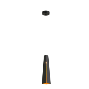Picture of FARO PLUMA SUSPENSION LED 6W BLACK AND GOLD CONE