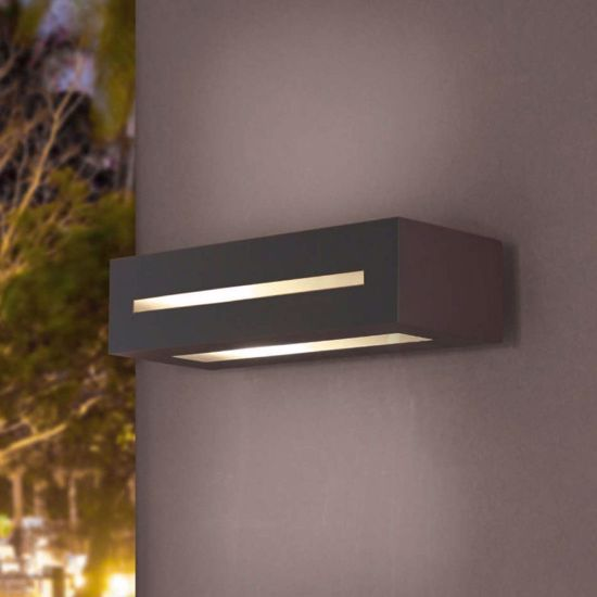 Picture of OUTDOOR WALL LIGHT IP54 FOR GARDEN AND TERRACE IN DARK GREY